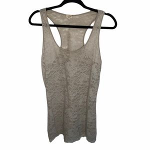 Aritzia Wilfred Madeline Lace racerback tank M